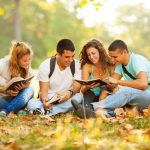 students-on-fall-lawn