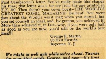 What George RR Martin's Letters to Marvel Tell Us