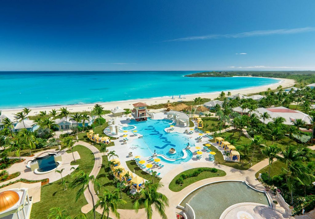 5 Best Destinations for A Crazy Spring Break Bahamas beach trees pool