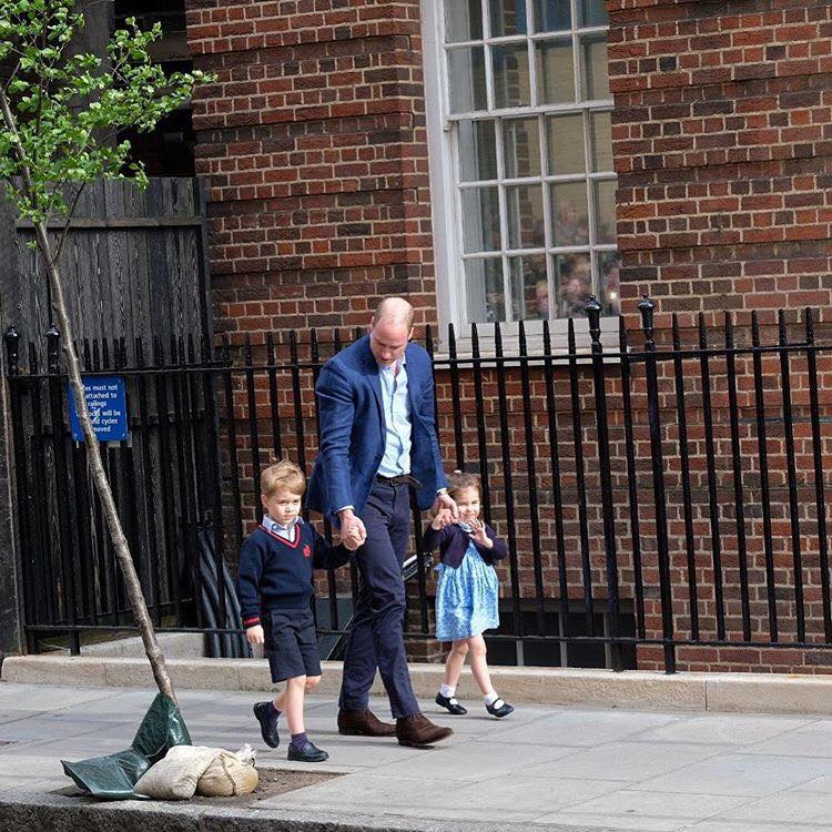 Duke and Duchess of Cambridge Welcome Baby No. 3 Prince George Princess Charlotte