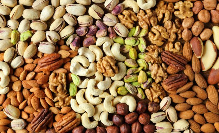 Top 7 Foods To Improve Your Heart Health nuts
