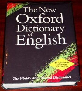 The dictionary!