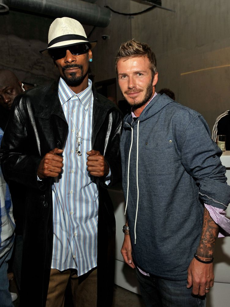 The Most Surprising Celebrity Best Friends Duos snoop dogg david beckham