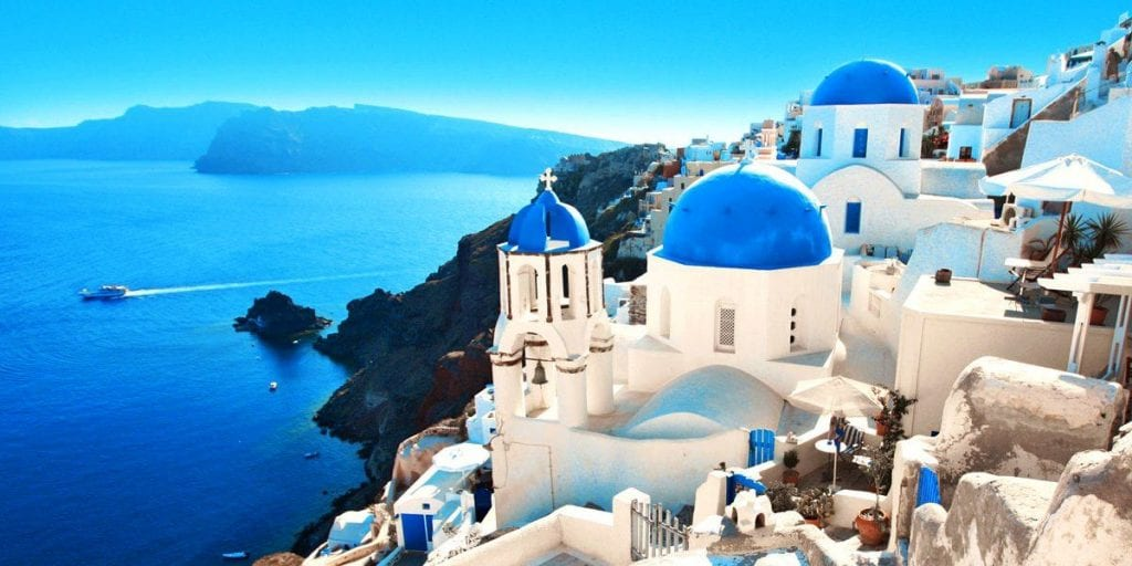 The Most Romantic Cities To Visit For Valentine's Day 2019 santorini